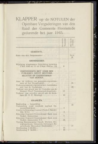 Raadsnotulen Heemstede 1945