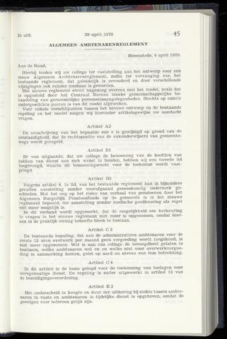 Raadsnotulen Heemstede 1970-04-29