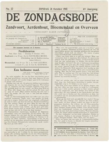 De Zondagsbode voor Zandvoort en Aerdenhout 1915-10-31