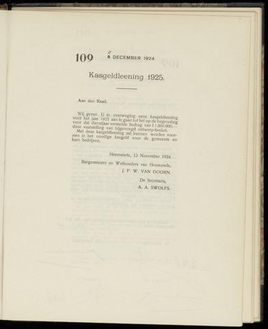 Raadsnotulen Heemstede 1924-12-11