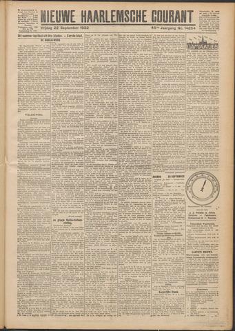 Nieuwe Haarlemsche Courant 1922-09-22