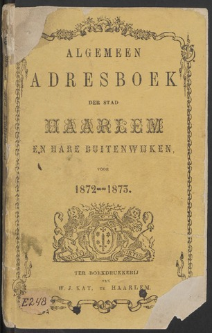 Adresboeken Haarlem 1872-09-01