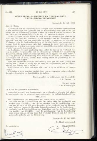 Raadsnotulen Heemstede 1966-07-28