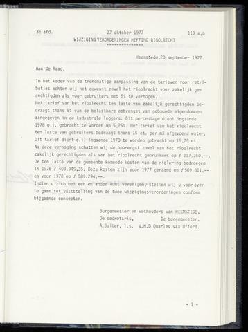 Raadsnotulen Heemstede 1977-10-27