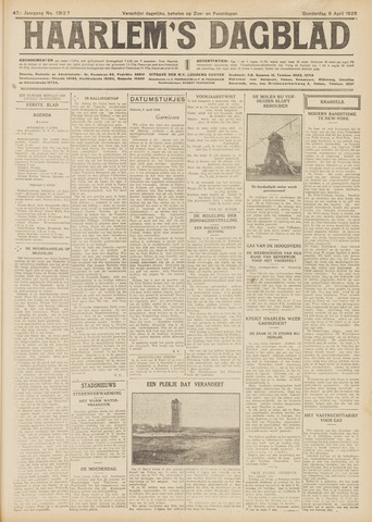 Haarlem's Dagblad 1926-04-08