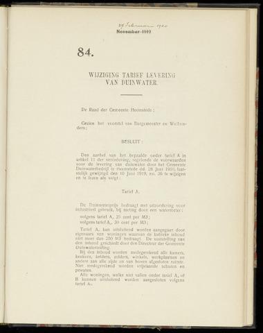 Raadsnotulen Heemstede 1920-02-27