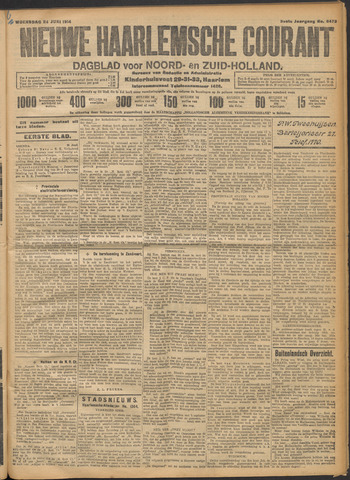Nieuwe Haarlemsche Courant 1914-06-24