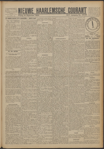 Nieuwe Haarlemsche Courant 1923-09-14