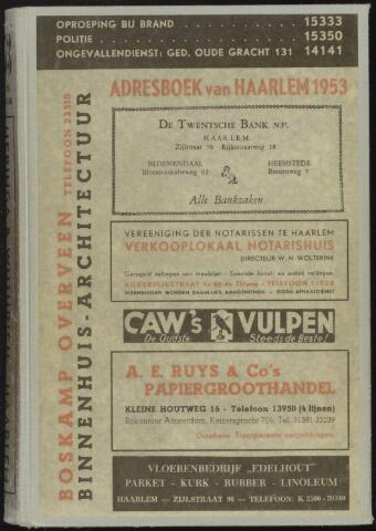 Adresboeken Haarlem 1953