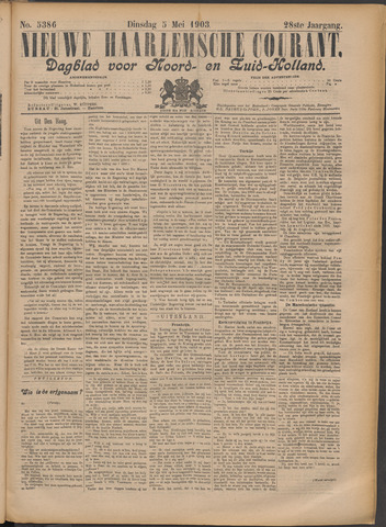Nieuwe Haarlemsche Courant 1903-05-05