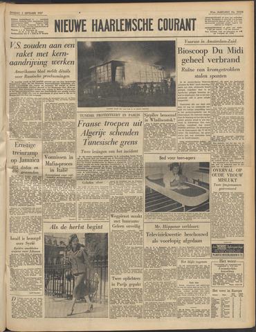 Nieuwe Haarlemsche Courant 1957-09-03