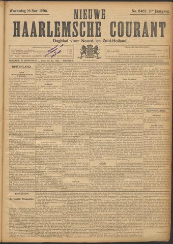 Nieuwe Haarlemsche Courant 1906-11-28