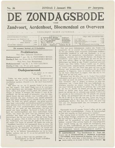 De Zondagsbode voor Zandvoort en Aerdenhout 1916