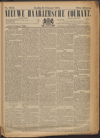 Nieuwe Haarlemsche Courant 1895-02-24