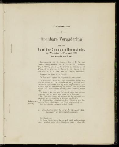 Raadsnotulen Heemstede 1920-02-12