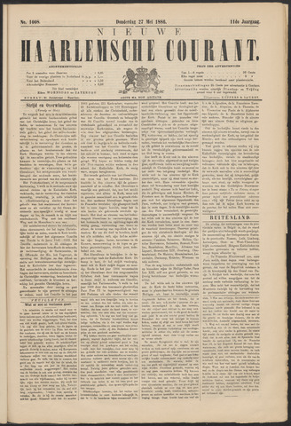 Nieuwe Haarlemsche Courant 1886-05-27