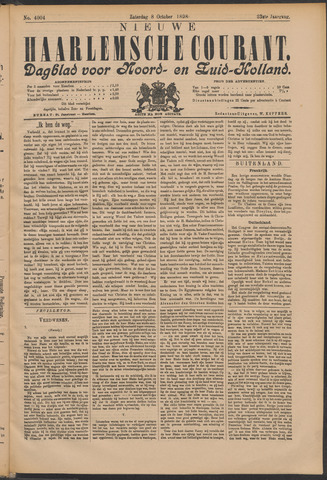 Nieuwe Haarlemsche Courant 1898-10-08