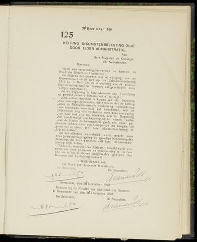 Raadsnotulen Heemstede 1920-12-28