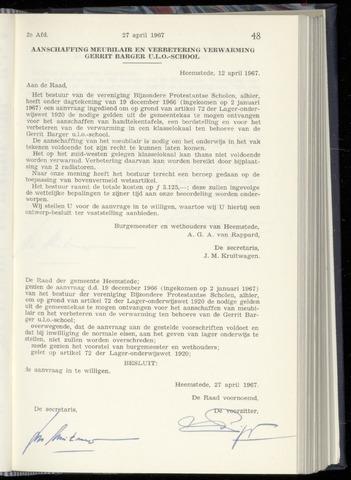 Raadsnotulen Heemstede 1967-04-27