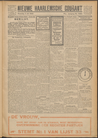 Nieuwe Haarlemsche Courant 1922-07-03