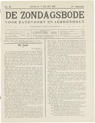 De Zondagsbode voor Zandvoort en Aerdenhout 1915-03-07