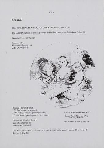 The Dutch Dickensian 1998