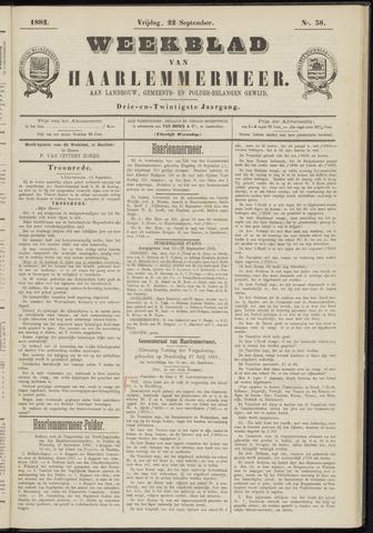 Weekblad van Haarlemmermeer 1882-09-22