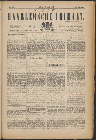 Nieuwe Haarlemsche Courant 1889-04-12