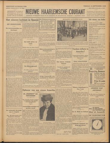 Nieuwe Haarlemsche Courant 1933-09-15