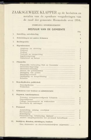 Raadsnotulen Heemstede 1954-01-01