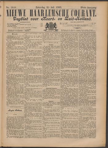 Nieuwe Haarlemsche Courant 1903-07-25