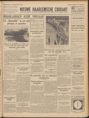Nieuwe Haarlemsche Courant 1939-10-09