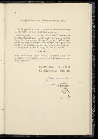 Raadsnotulen Heemstede 1942-04-14