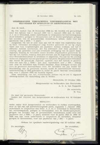 Raadsnotulen Heemstede 1951-10-25