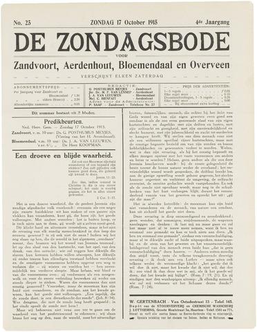 De Zondagsbode voor Zandvoort en Aerdenhout 1915-10-17