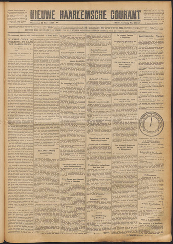 Nieuwe Haarlemsche Courant 1927-11-23