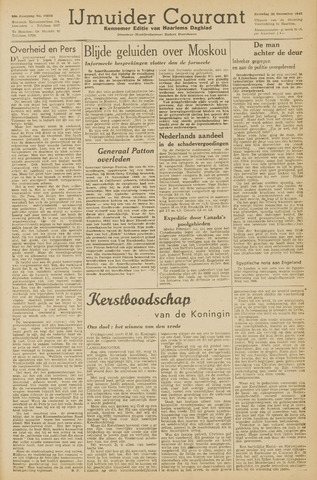 IJmuider Courant 1945-12-22