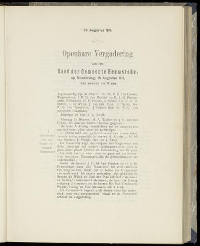 Raadsnotulen Heemstede 1915-08-19