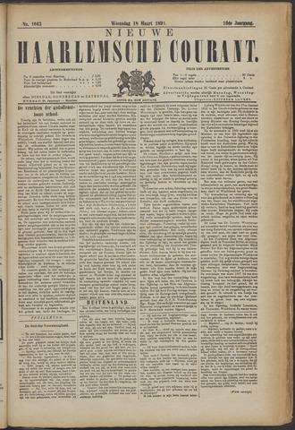 Nieuwe Haarlemsche Courant 1891-03-18