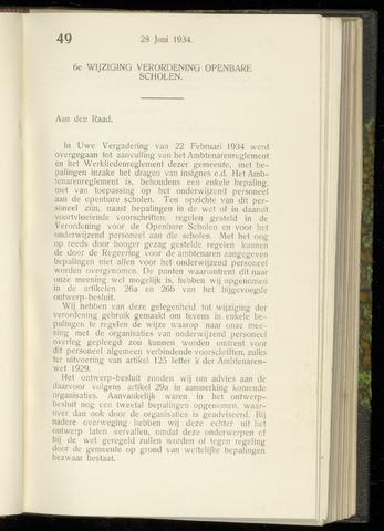 Raadsnotulen Heemstede 1934-06-28