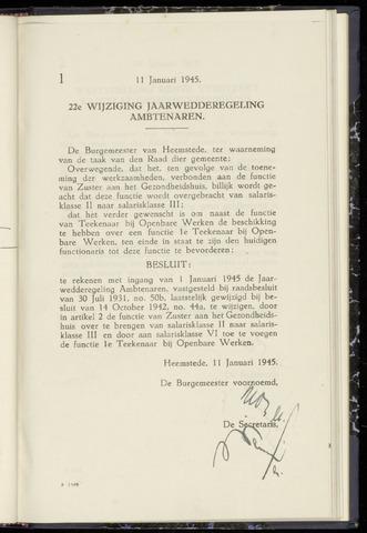 Raadsnotulen Heemstede 1945-01-11