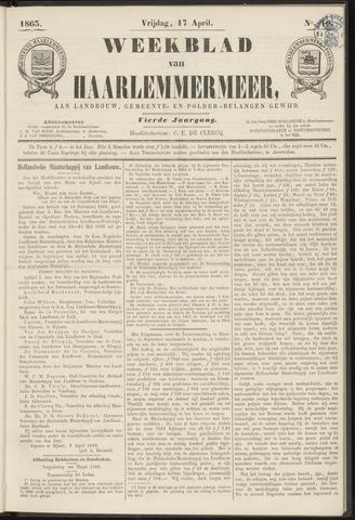 Weekblad van Haarlemmermeer 1863-04-17