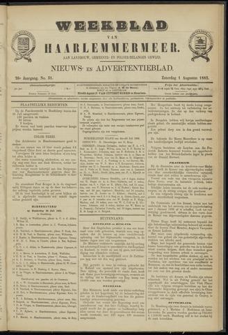 Weekblad van Haarlemmermeer 1885-08-01