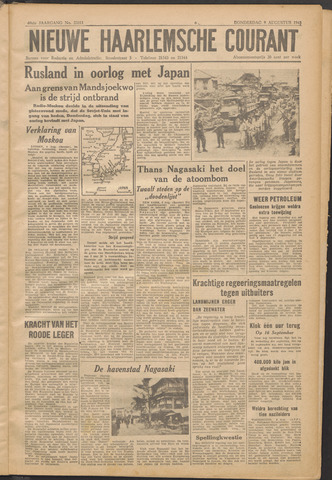 Nieuwe Haarlemsche Courant 1945-08-09