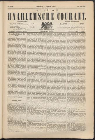 Nieuwe Haarlemsche Courant 1884-08-07