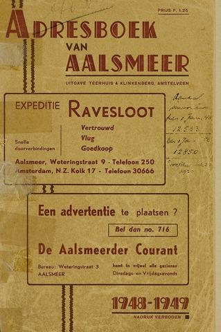 Adresboeken Aalsmeer 1948