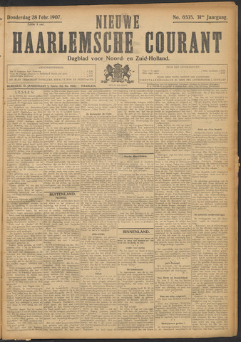 Nieuwe Haarlemsche Courant 1907-02-28
