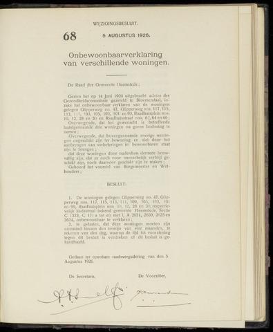 Raadsnotulen Heemstede 1926-08-05