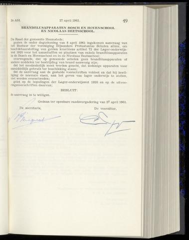 Raadsnotulen Heemstede 1961-04-27