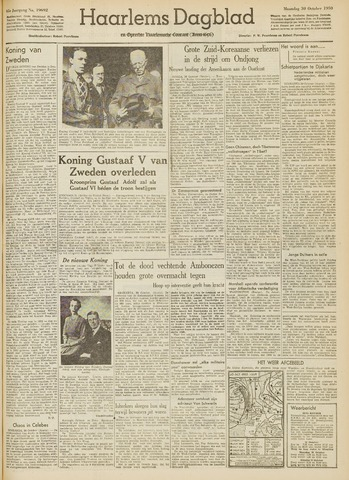 Haarlem's Dagblad 1950-10-30